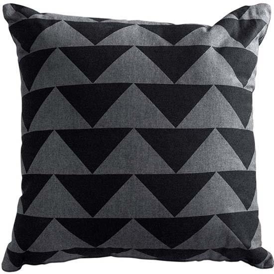 Limon Matterhorn Cushion - Poly Inner, Charcoal/Grey