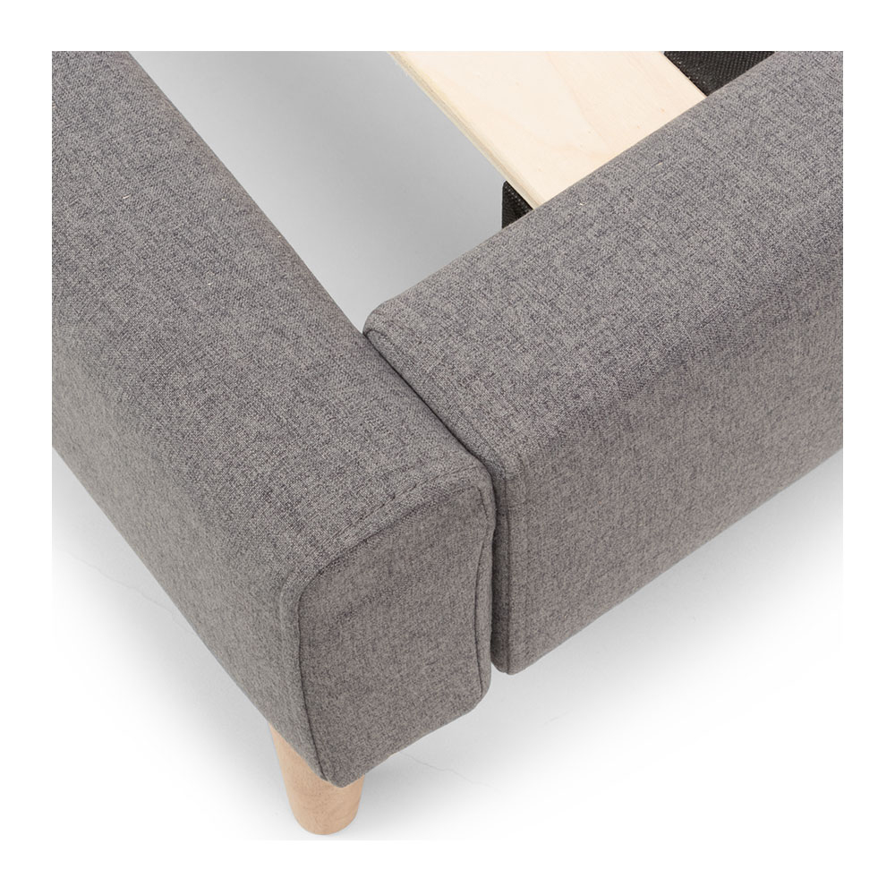 Riley Queen Bed Frame, Grey
