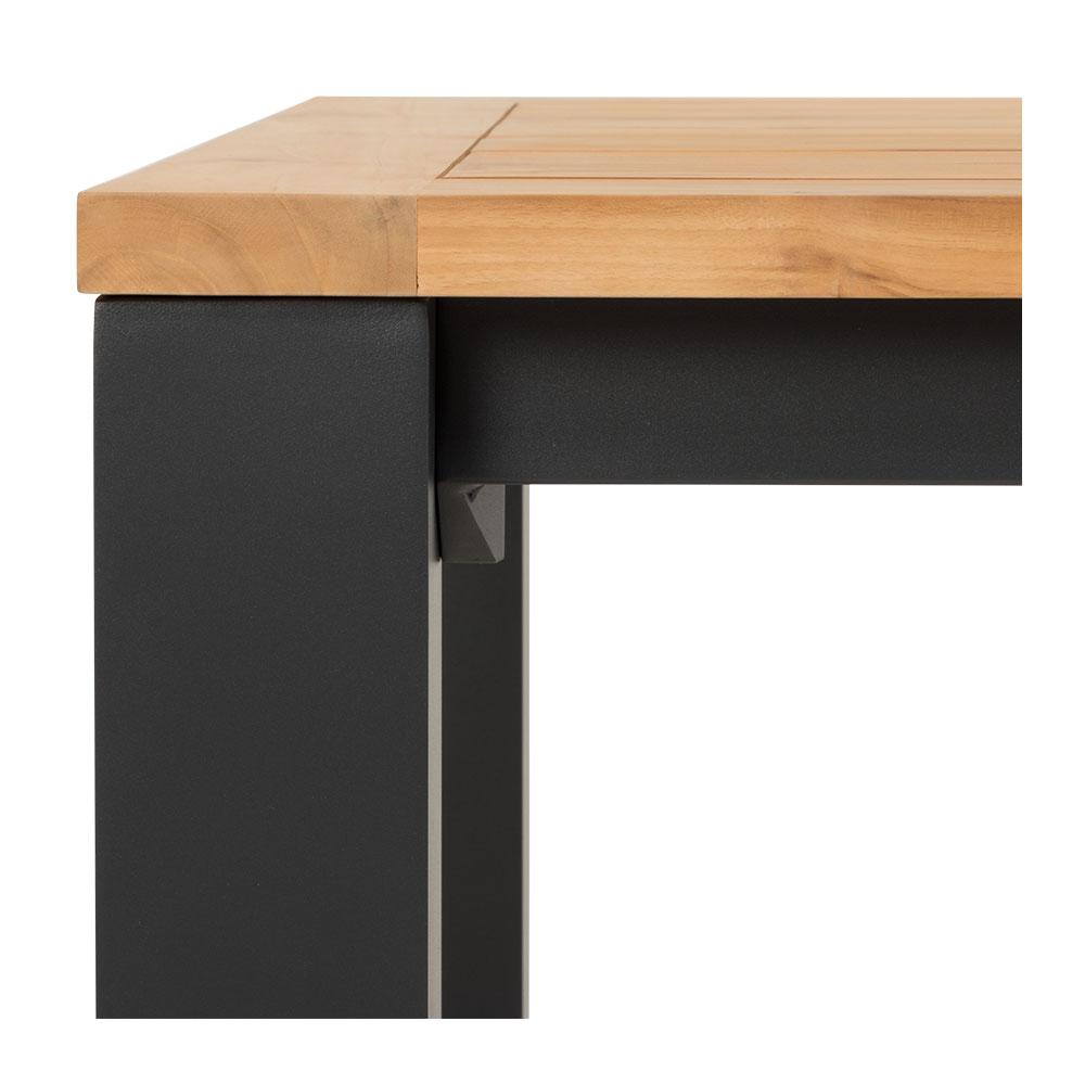 Ibiza Outdoor Dining Table - W180, Gunmetal