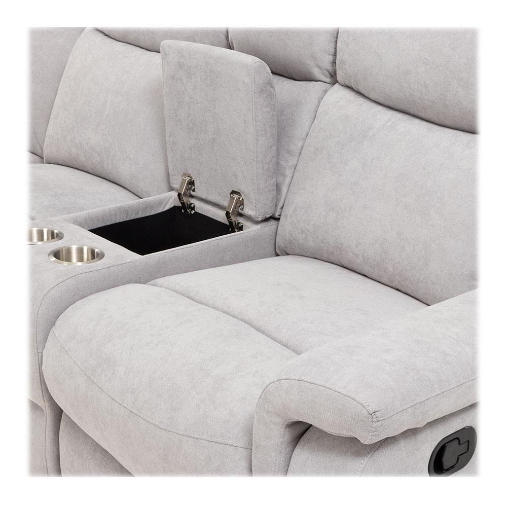 Fairview Recliner Corner Suite, Mist Grey