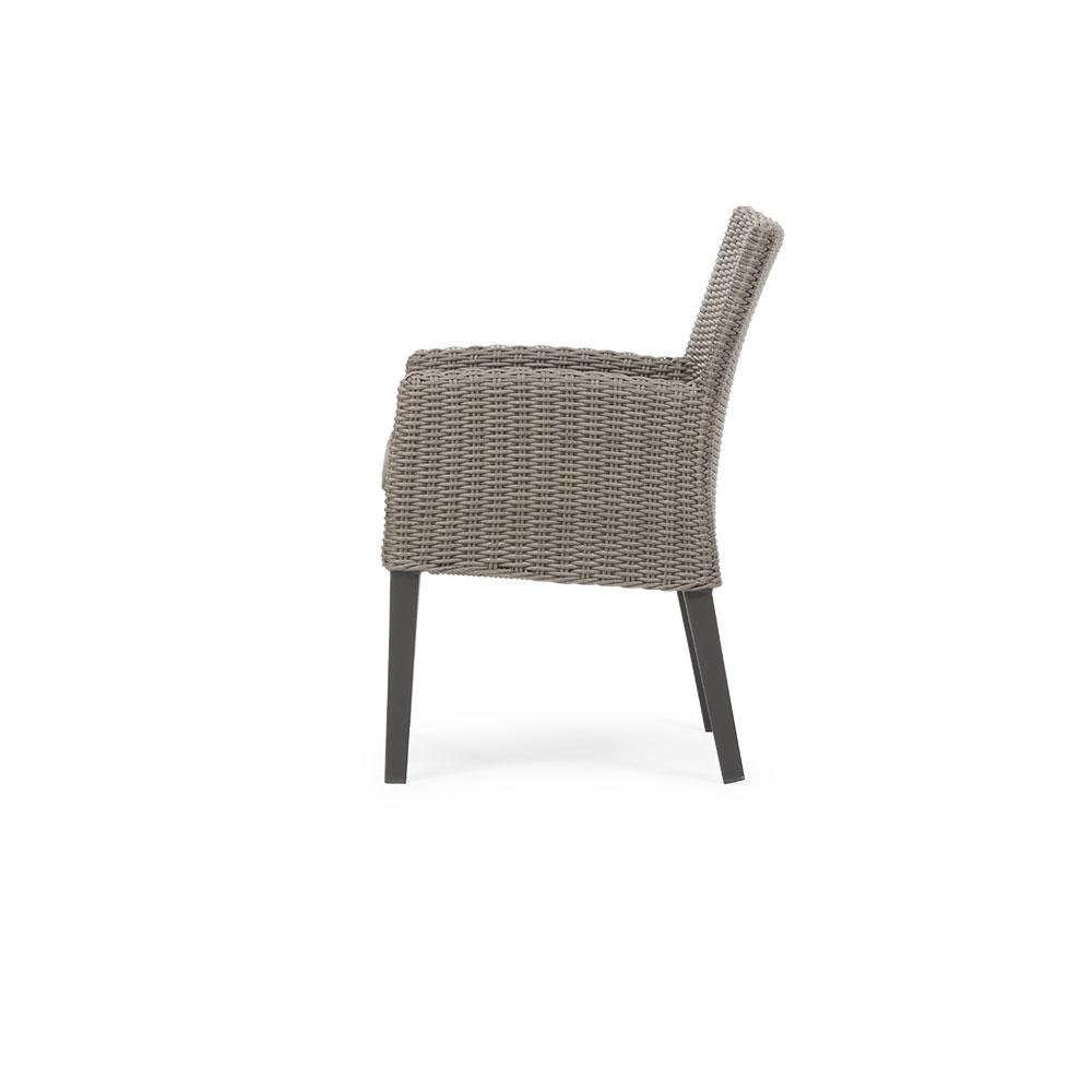 Capri Outdoor Dining Chair, Grey/ Gunmetal
