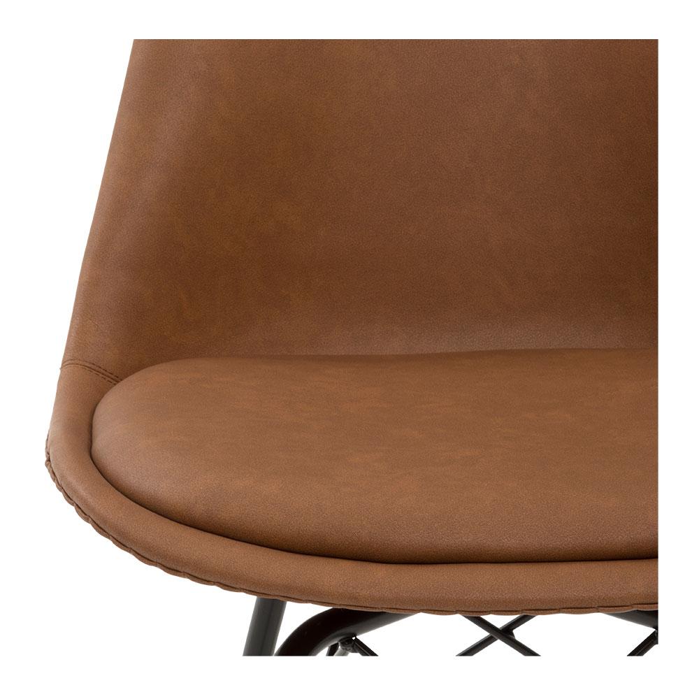 Peyton Pu Dining Chair, Tan