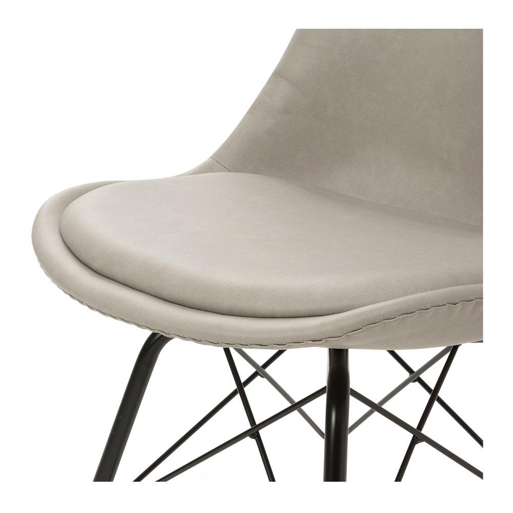 Peyton Pu Dining Chair, Light Grey