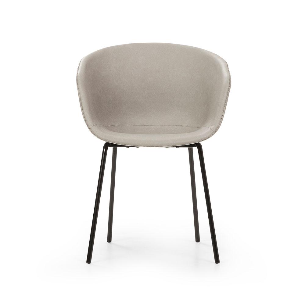Zen PU Dining Chair, Light Grey
