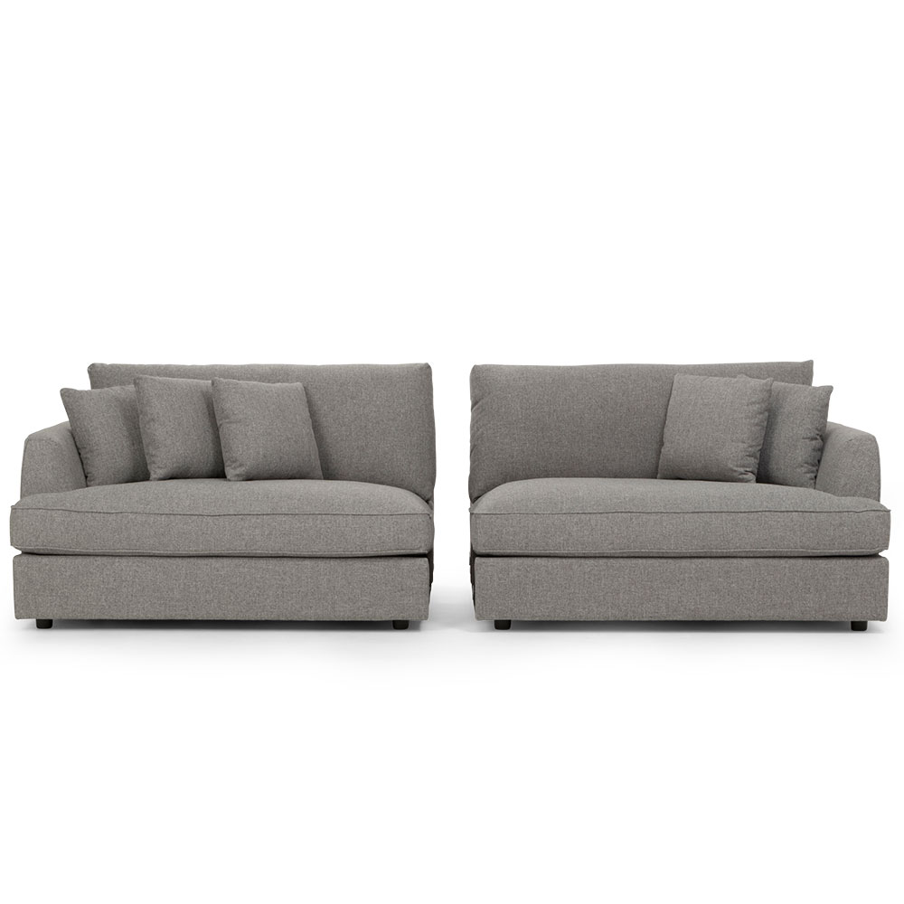 Lincoln Oversized 4 Seater Sofa, Grey