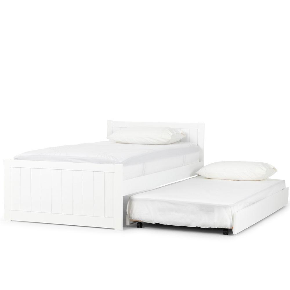 Emerson King Single/Single Trundler Bed Setting, White