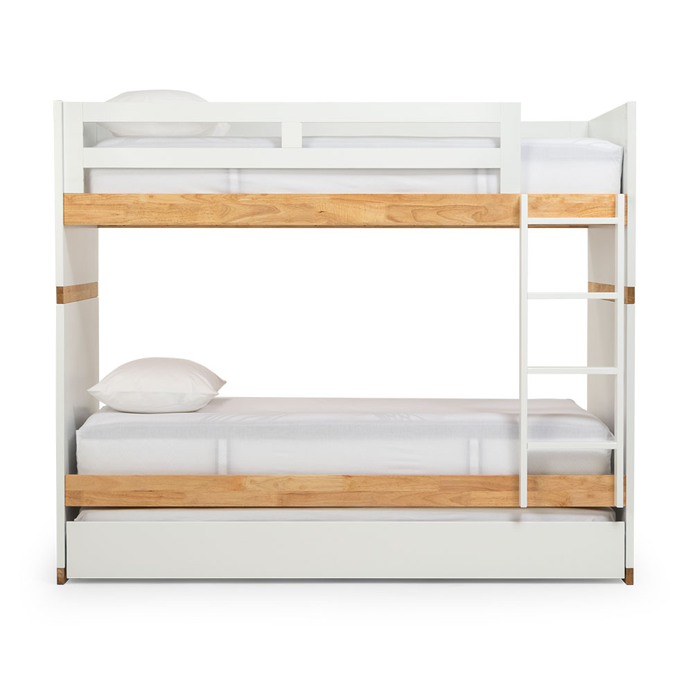 Chia Single/ Single Trundle Bunk Bed Frame