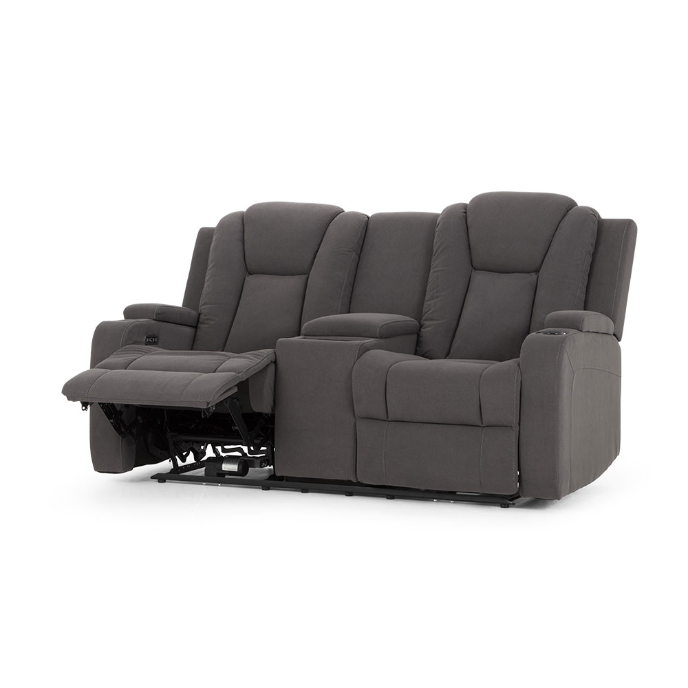 Riva 2 Seater Electric Recliner, Ash