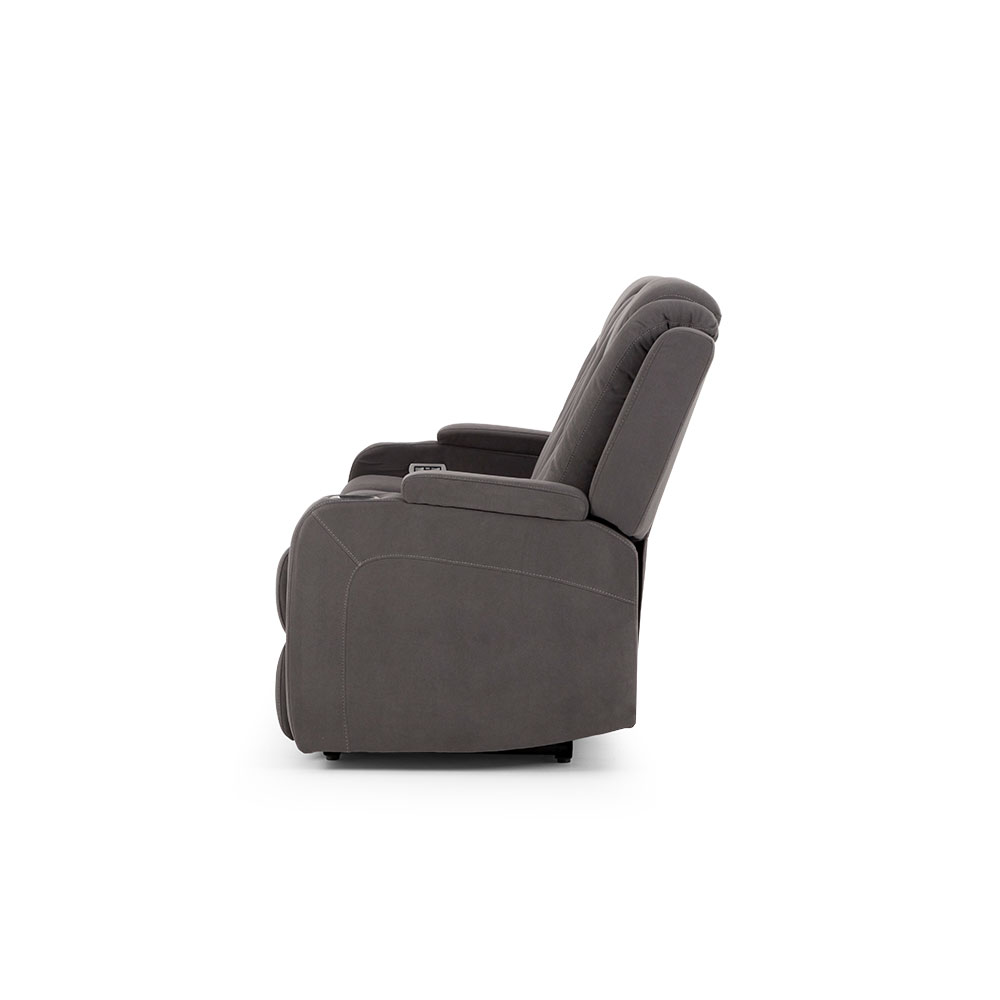 Riva 3 Seater Electric Recliner, Ash