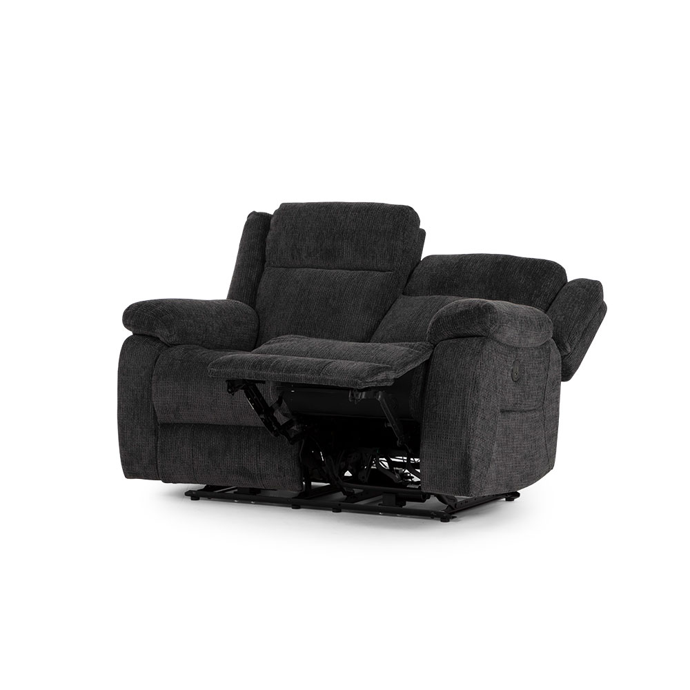 Whitby 2 Seater Electric Recliner, Charcoal