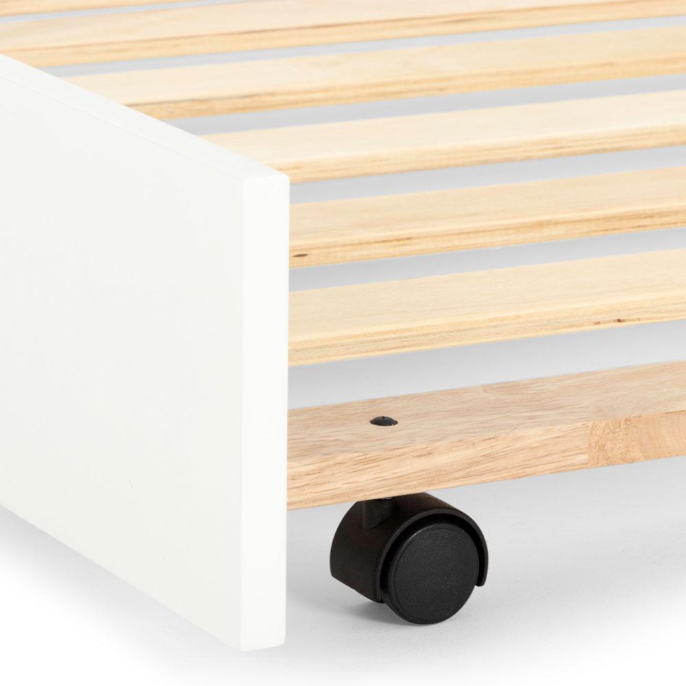 Emerson Trundler Bed Frame, White