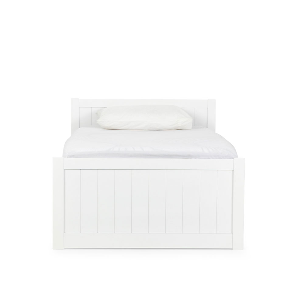 Emerson Single Bed Frame, White